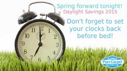 Daylight Savings 2015