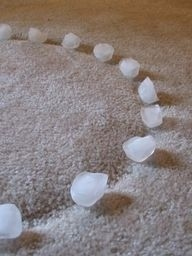 ice cubes to take out carpet dents