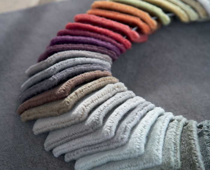 carpet selections and installation samples
