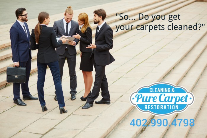 half off carpet cleaning, do you get your carpets cleaned? Person asking group